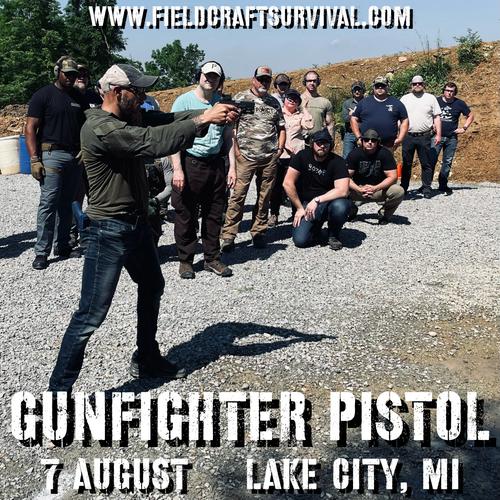 Gun Fighter Pistol Level 1: 7 August 2021 (Lake City, MI)