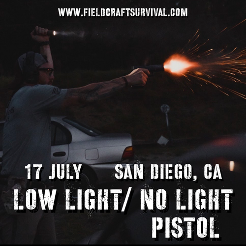 Low/No Light Pistol Defense: 17 July 2021 (San Diego, CA)