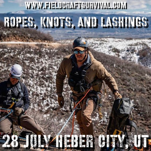 Rope, Knots, and Lashings: 28 July 2021 (Heber City, UT (HQ))
