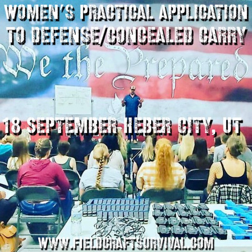 Womens Practical Application to Defense/Concealed Carry: 18 September 2021 (Heber City, UT (HQ))