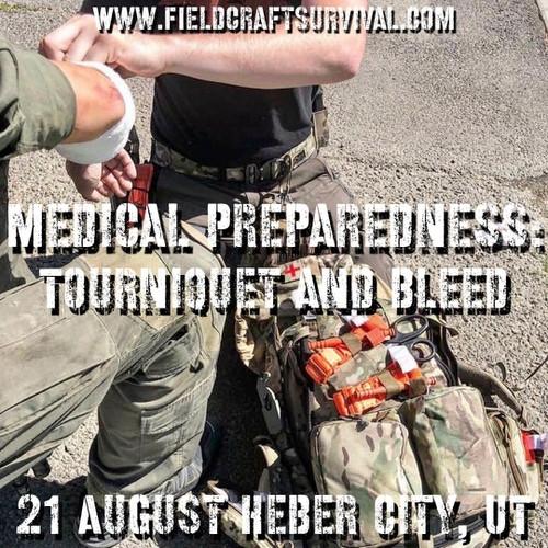 Medical Preparedness: Tourniquet and Bleed: 21 August 2021 (Heber City, UT (HQ))