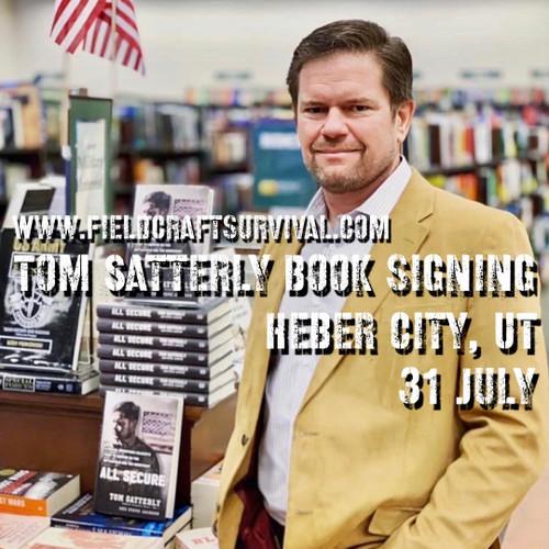 Tom Satterly Book Signing: 31 July 2021 (Heber City, UT (HQ))
