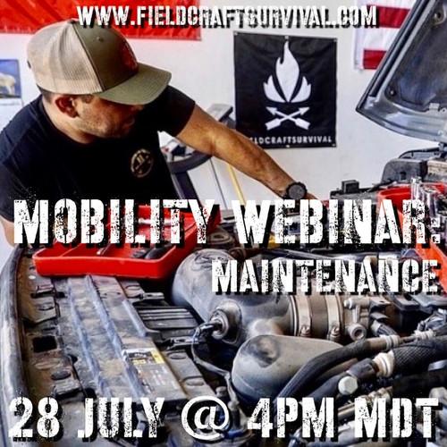 Mobility Webinar: Maintenance: 28 July 2021 (Webinar)