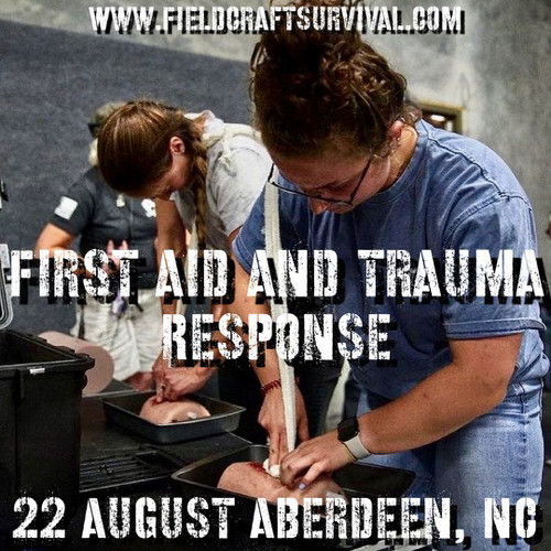 First Aid and Trauma Response: 22 August 2021 (Aberdeen, NC)
