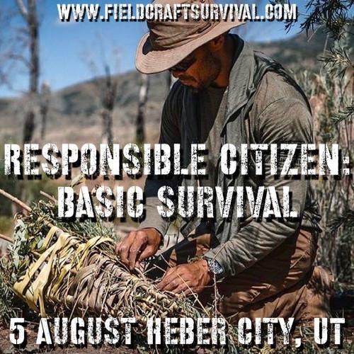 Responsible Citizen: Basic Survival: 5 August 2021 (Heber City, UT (HQ))