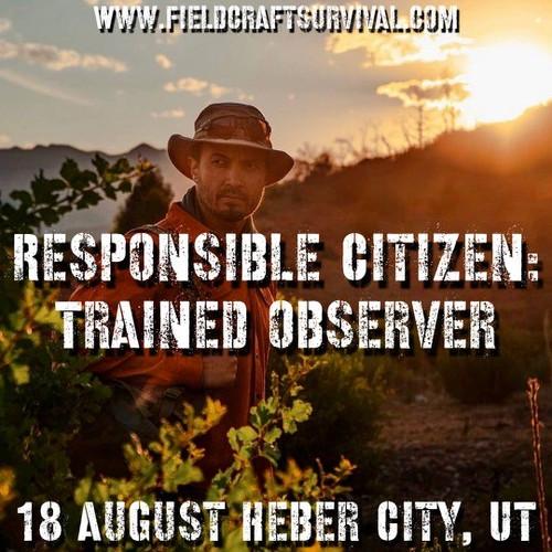 Responsible Citizen: Trained Observer: 18 August 2021 (Heber City, UT (HQ))