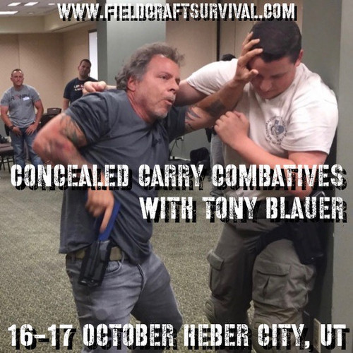 Concealed Carry Combatives with Tony Blauer: 16-17 October 2021 (Heber City, UT (HQ))