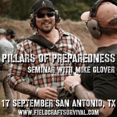 Pillars of Preparedness Seminar with Mike Glover at BRCC: 17 September 2021 (San Antonio, TX (BRCC Store))