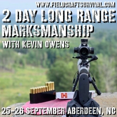 2 Day Long Range Marksmanship Course: 25-26 September 2021 (Aberdeen, NC)
