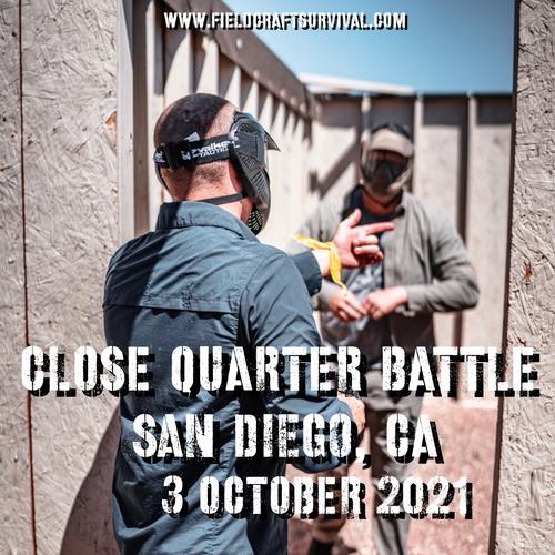 Close Quarters Battle Level 1: 3 October 2021 (San Diego, CA)
