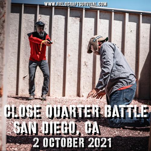 Close Quarters Battle Level 1: 2 October 2021 (San Diego, CA)