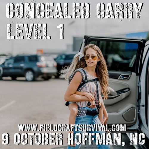 Concealed Carry Level 1: 9 October 2021 (Hoffman, NC)