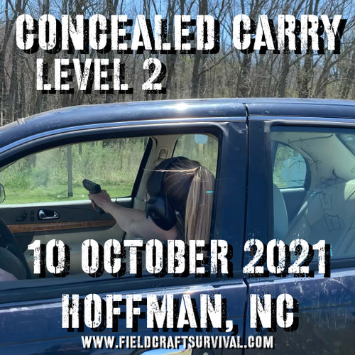Concealed Carry Level 2: 10 October 2021 (Hoffman, NC)