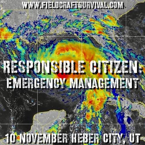 Responsible Citizen: Emergency Management: 10 November 2021 (Heber City, UT)