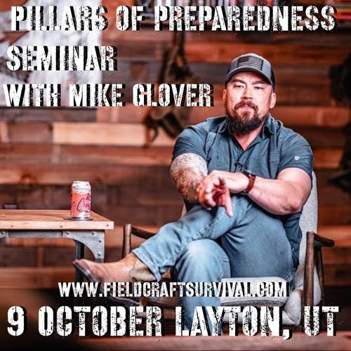 Pillars of Preparedness Seminar with Mike Glover at BRCC: 9 October 2021 (Layton, UT)