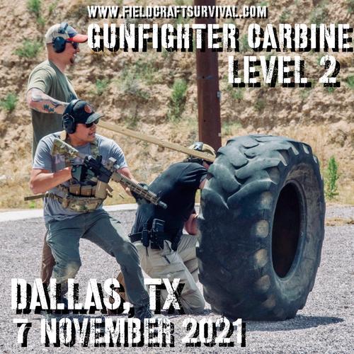 Gun Fighter Carbine Level 2: 7 November 2021 (Dallas/Ft. Worth, TX)
