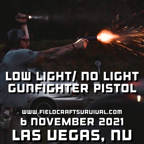 Low/No Light Pistol Defense: 6 November 2021 (Las Vegas, NV)