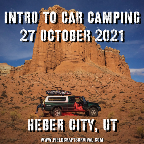 Intro To Car Camping: 27 October 2021  (Heber City, UT)
