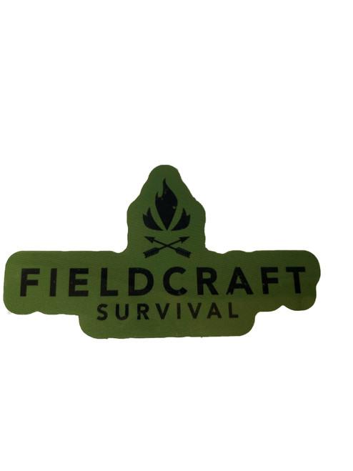 Forest Green Fieldcraft Survival Logo Sticker