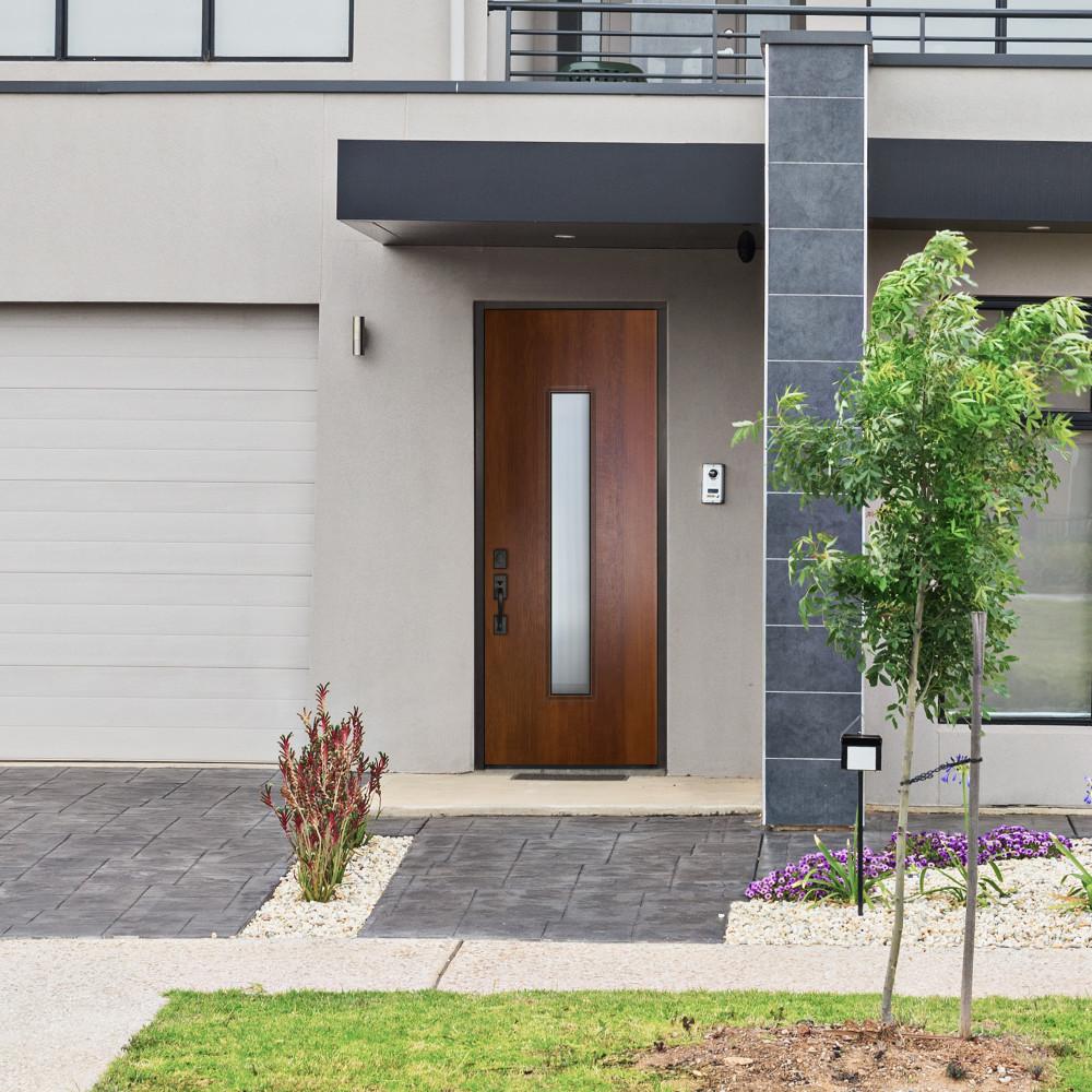 Malibu Mahogany Contemporary Front Entry Door