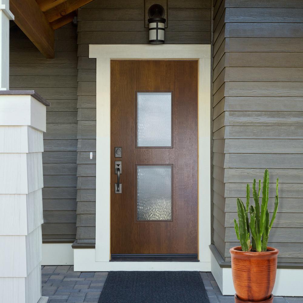 Newport Mahogany Contemporary front entry door