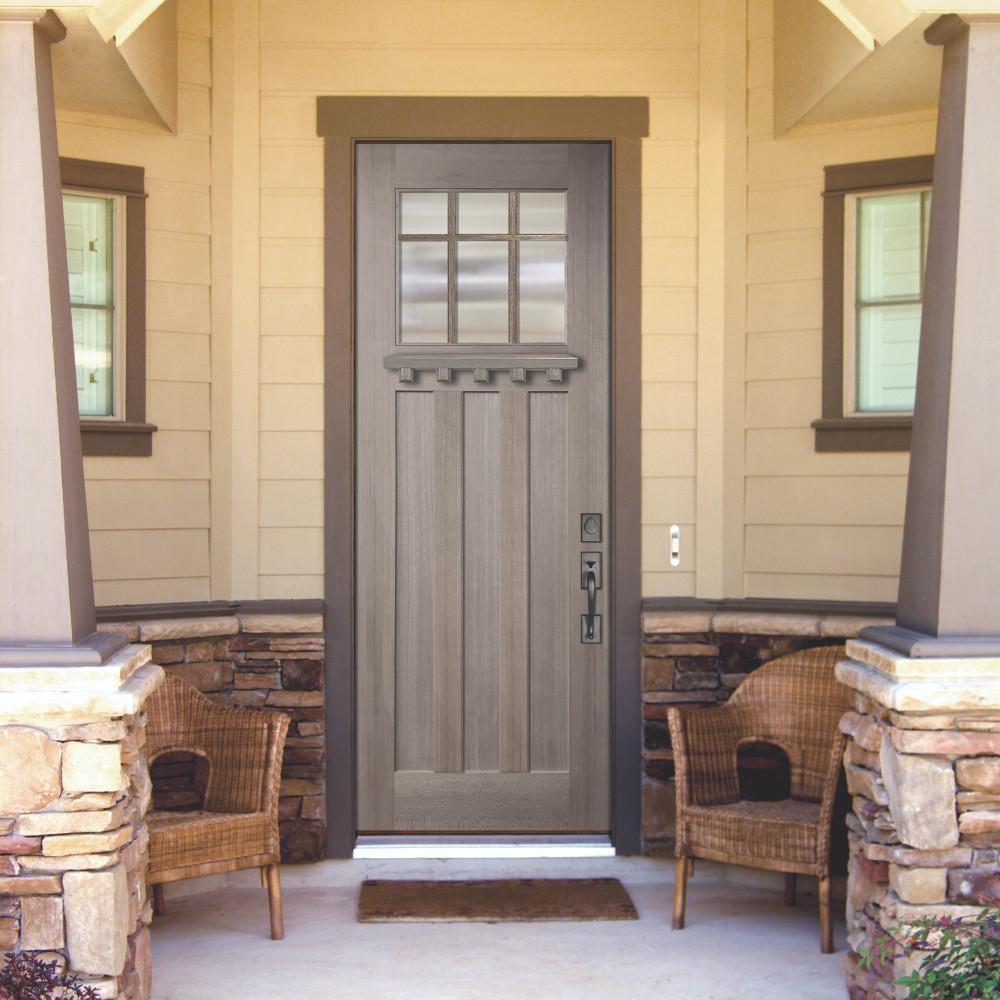 Craftsman 3080 Marginal 6 Lite SDL Mahogany Door