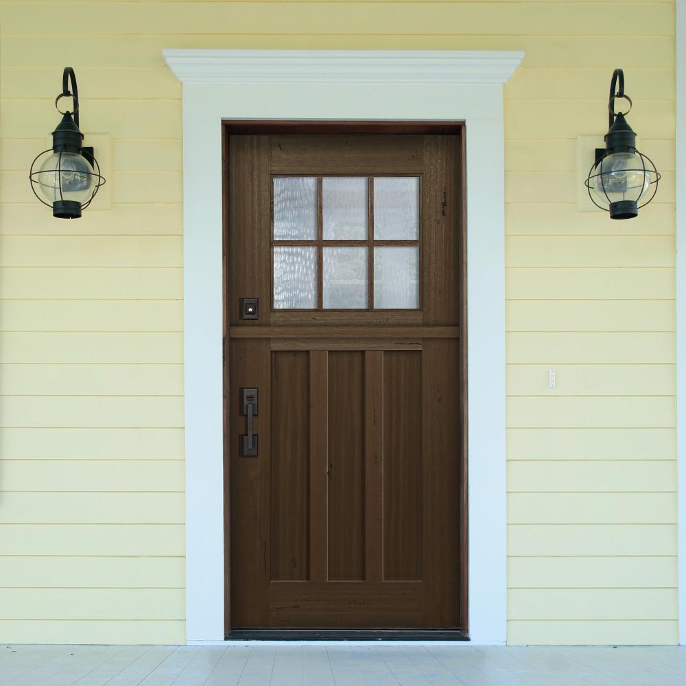 Craftsman 3068 6 Lite SDL Mahogany Dutch Door