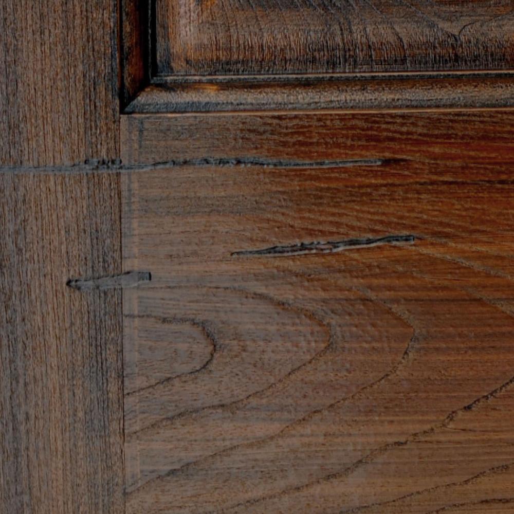 Pecan Distressed Fiberglass Finish Sample