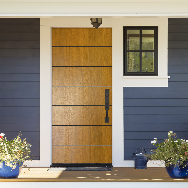 Westwood Mahogany Contemporary Front Entry Door