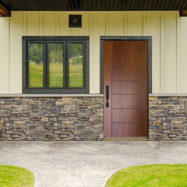 Brentwood Mahogany Contemporary Front Entry Door