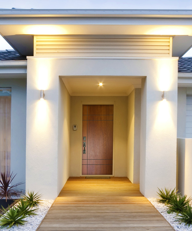 Inglewood Mahogany Contemporary Front Entry Door