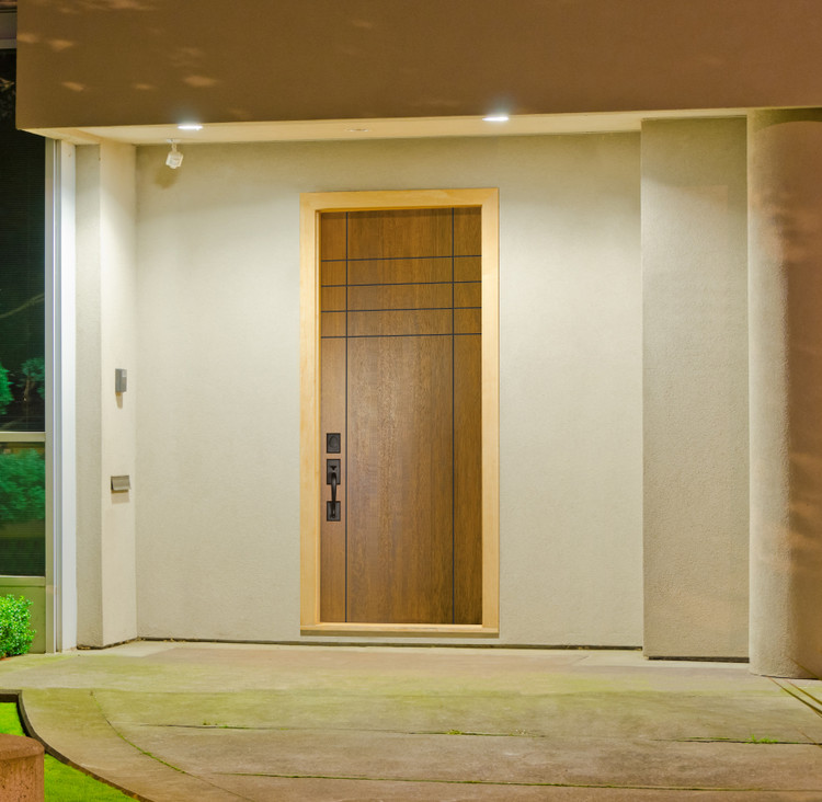 Fleetwood Mahogany Contemporary Front Entry Door