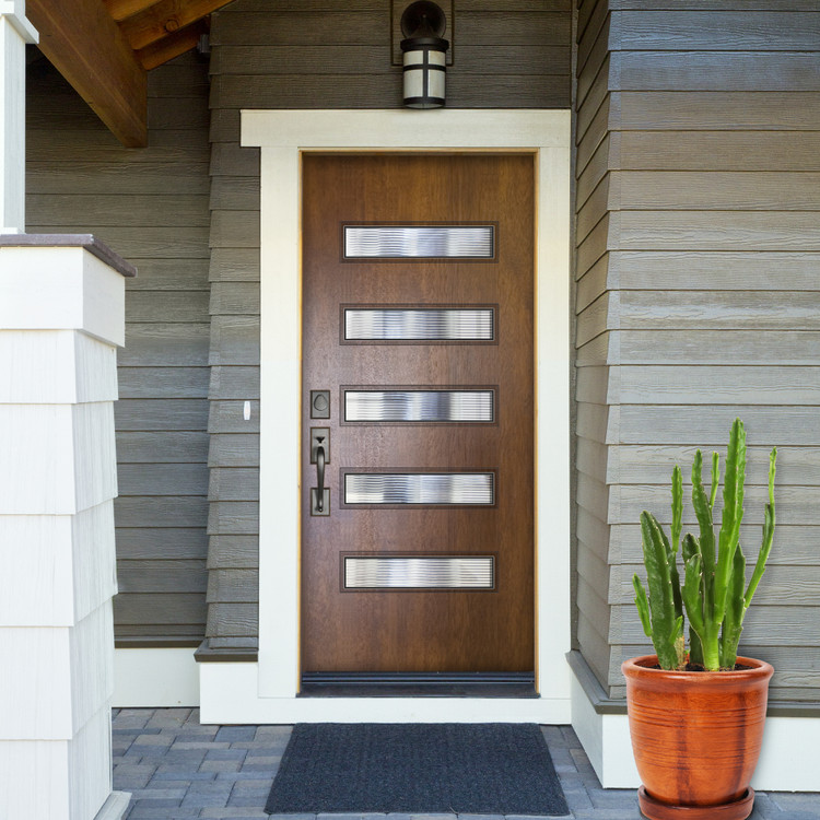 Beverly Mahogany Contemporary front entry Door