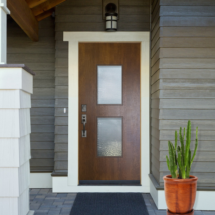 Newport Mahogany Contemporary front entry door