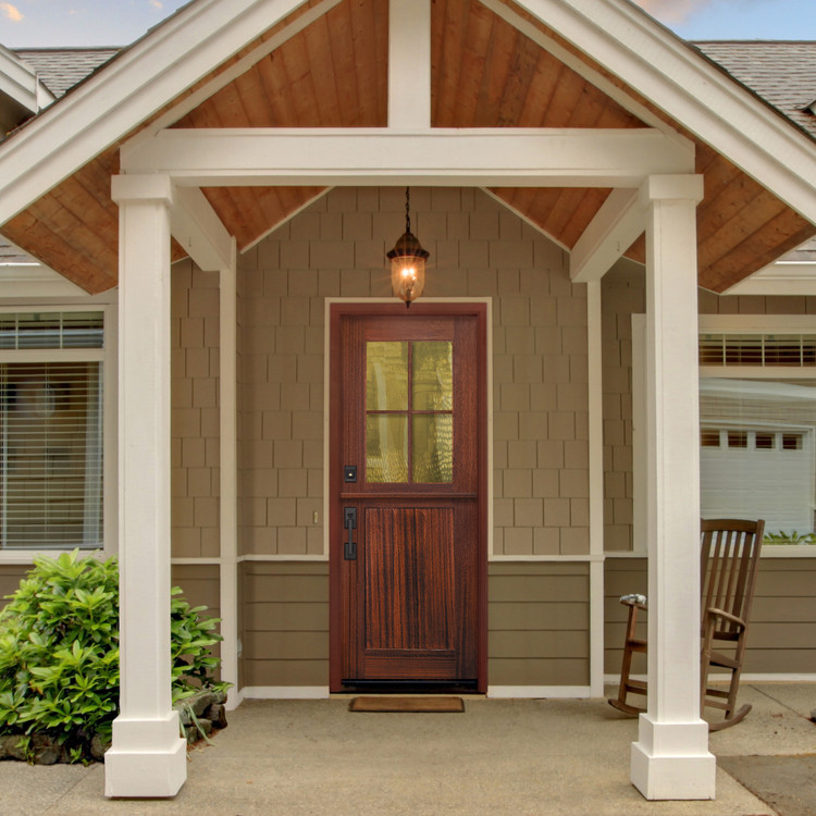 Craftsman Tall Lite 3080 4 Lite SDL Mahogany Dutch Door