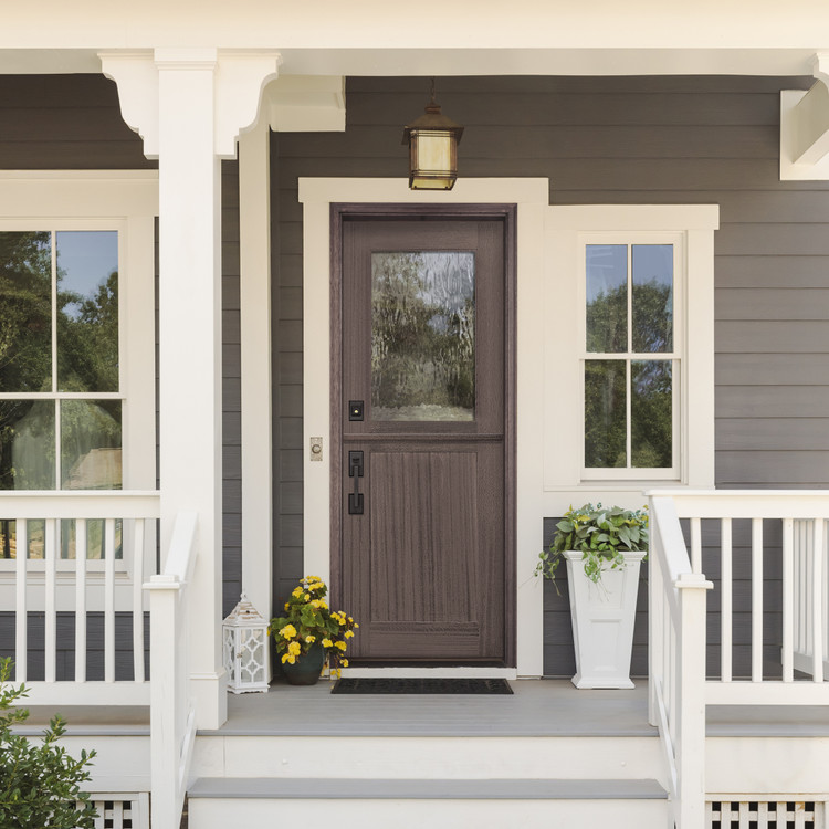 Craftsman Tall Lite 3080 1 Lite SDL Mahogany Dutch Door