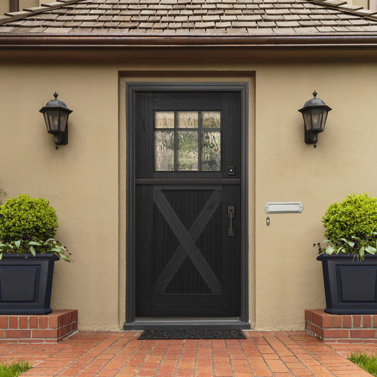 Craftsman 3068 Marginal 6 Lite SDL Mahogany Dutch Door