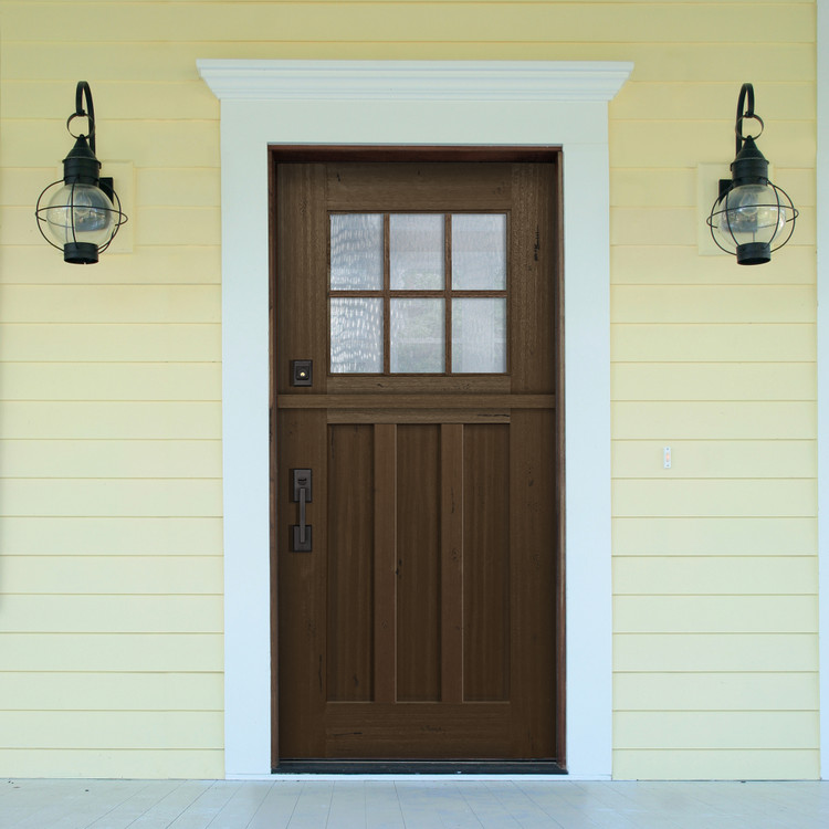 Craftsman 3068 6 Lite SDL Mahogany Dutch Door