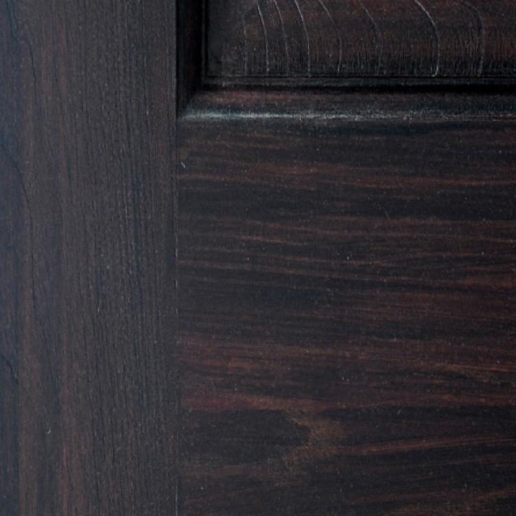 Rosewood Distressed Fiberglass Finish Sample