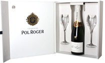 Pol Roger Gift Box & 2 Glasses Open 750ml