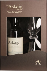 Port Askaig 8 Year Old Islay Single Malt Gift Set 750ml