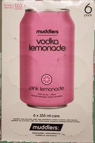 Muddlers Vodka Pink Lemonade 6 x 355ml