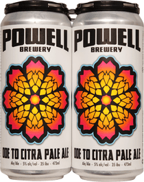 Powell Brewery Ode to Citra West Coast Pale Ale 4 Pack 473ml