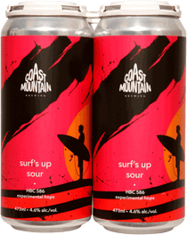 Coast Mountain Surf's Up Sour 4 Pack 473ml