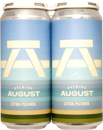 Brewing August Citra Pilsner 4 Pack 473ml
