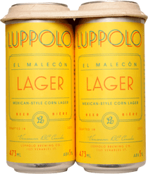 Luppolo El Malecon Mexican Style Corn Lager 4 Pack 473ml