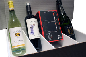 2019 MWC Holiday Gift Package - 3 Wines & 2 Glasses