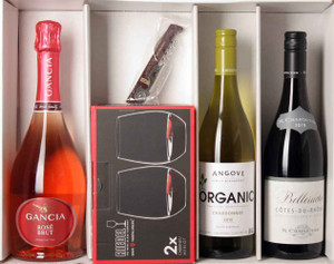 MWC 2020 Gift Package - 3 Wines, 2 Glasses & Corkscrews