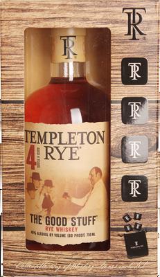Templeton 4 Year Old Rye Gift Set 750ml