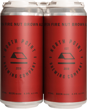 North Point Open Fire Nut Brown Ale 4 Pack 473ml